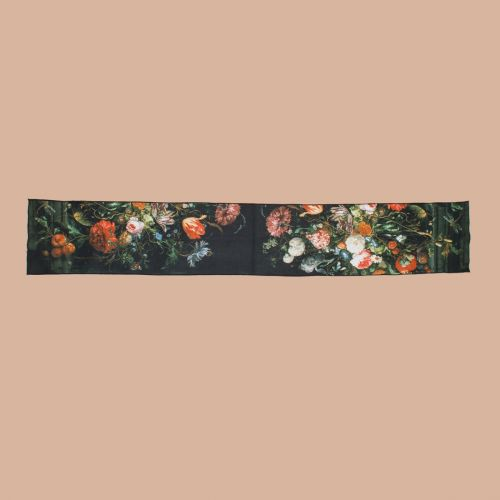 Schal Früchte neben einem Blumenglas